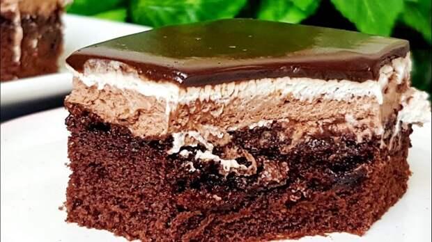 Шоколадный торт пирожное. Настоящее райское наслаждение