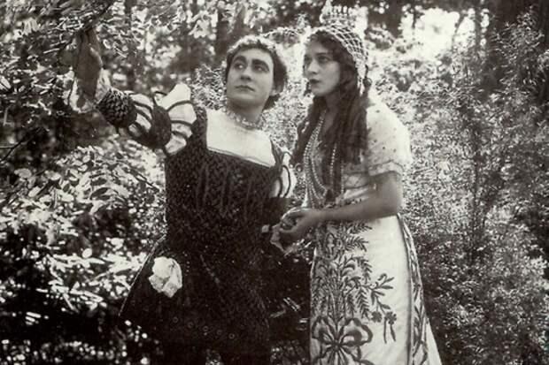 Мэри Пикфорд в роли Золушки, 1914 год