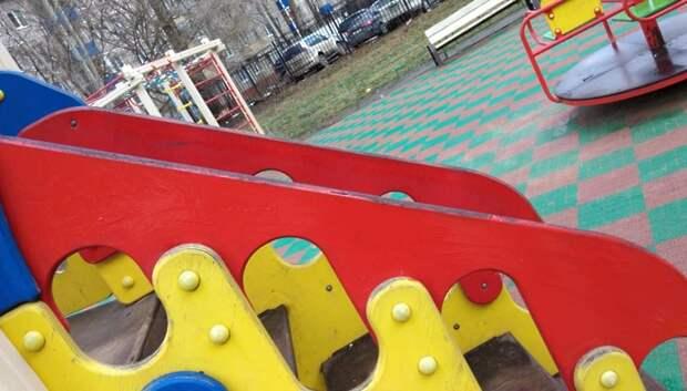 Вандальные надписи убрали на детской площадке в Подольске
