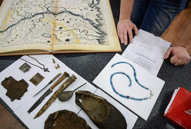Предметы, найденные на месте первого русского заполярного города