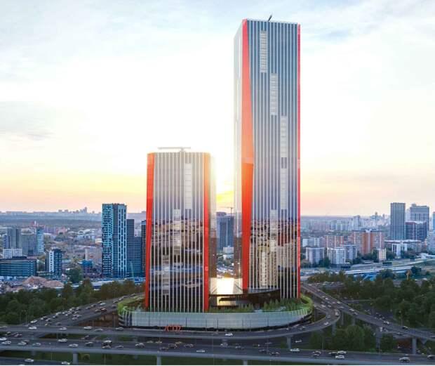 В Москва-Сити началось строительство комплекса iCity из двух небоскребов