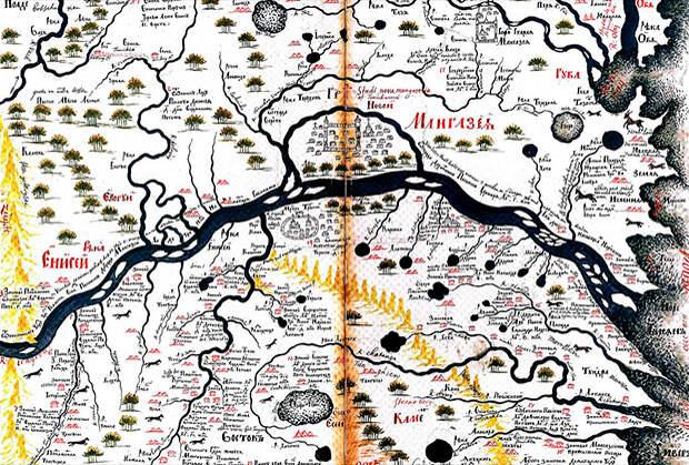 Новая Мангазея на карте XVII века