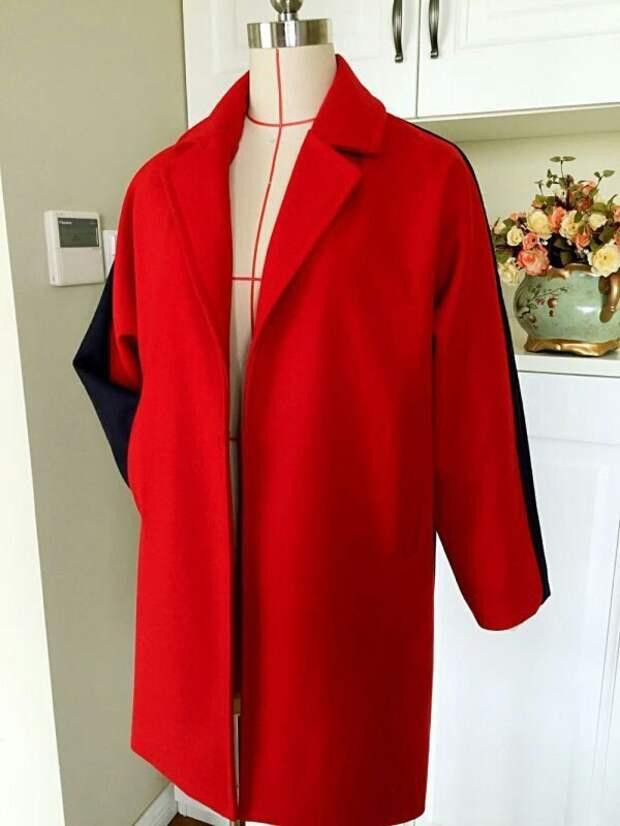 Пальто с цельнокооенным рукавом (выкройка)