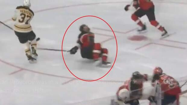 Американцы оценили мужество русского хоккеиста. Проворов рухнул на лед от попадания шайбы, но сразу продолжил игру