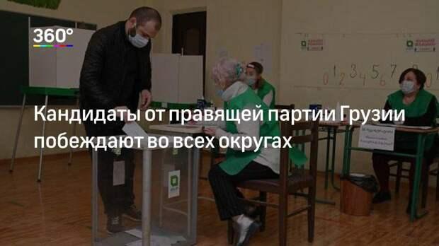 Кандидаты от правящей партии Грузии побеждают во всех округах