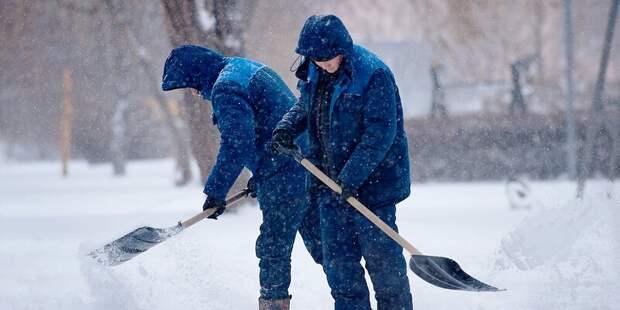 75 процентов дворовых территорий Москвы очистили после снегопада