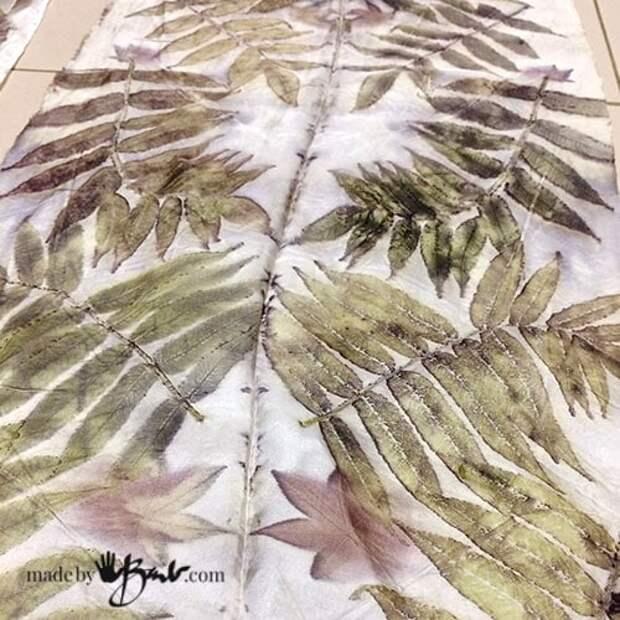 Орнаменты живой природы: потрясающая шелковая эко-печать