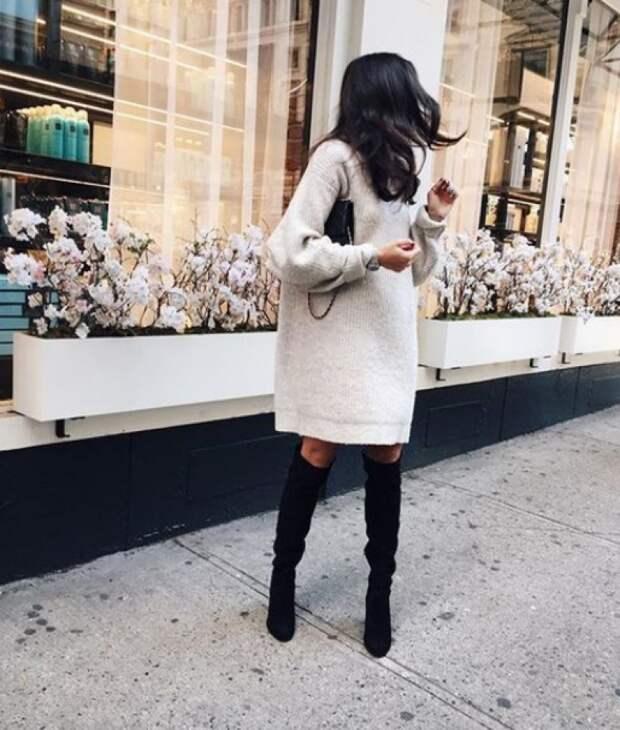 8 стильных платьев на осень и зиму, которые еще и согреют.