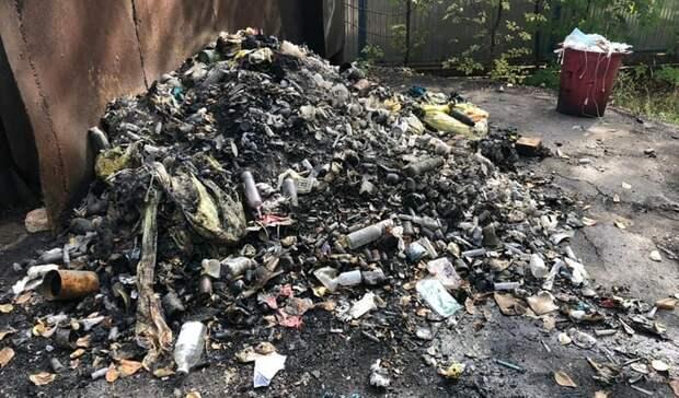 В Уфе обнаружили незаконную свалку, на которой сжигали медицинские отходы