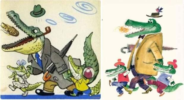 Тотоша и Кокоша в иллюстрациях разных лет