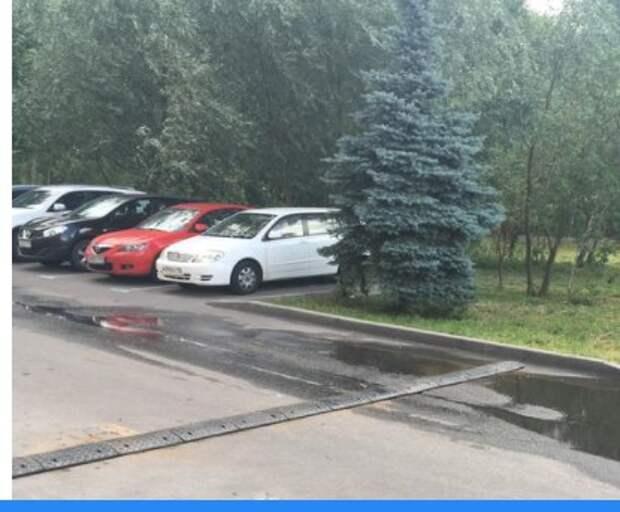 «Лежачий полицейский» появился в проезде к зданию ОВД на Синявинской