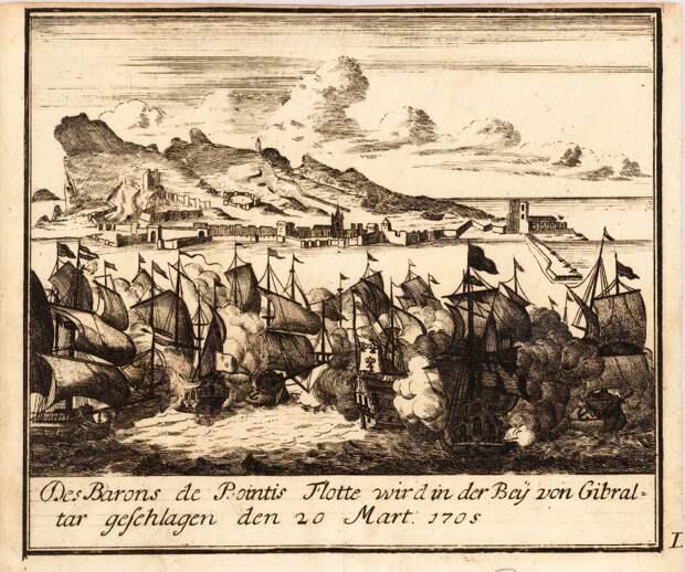 Сражение французского и английского флотов у Гибралтара в марте 1705 года - Великие крейсерские войны: драка за испанское наследство   Военно-исторический портал Warspot.ru