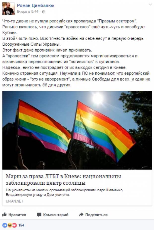 Свидомый «Укроп» Цимбалюк «переобулся»: «Правосеки» - враги Украины