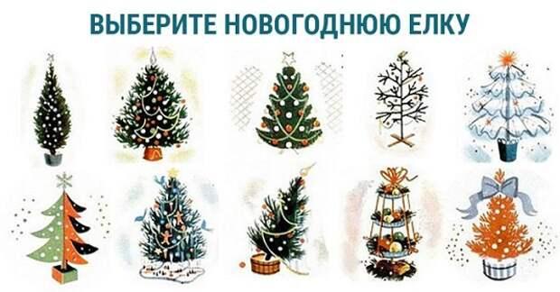 """Новогодний тест """"Выбери елку"""""""