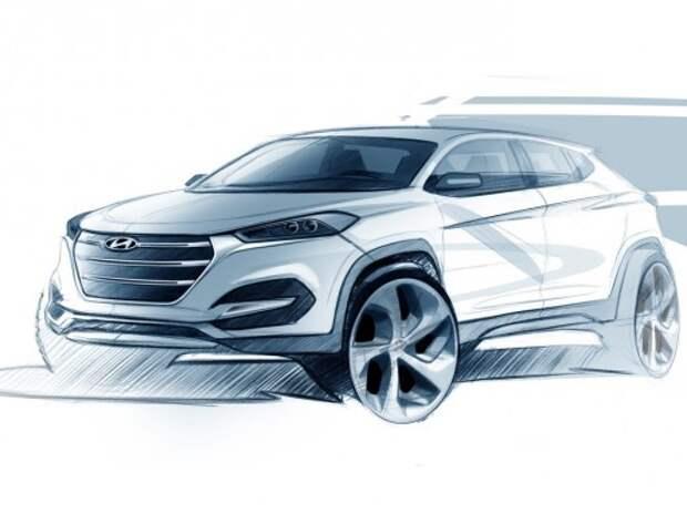 Hyundai показала тизер нового кроссовера ix35