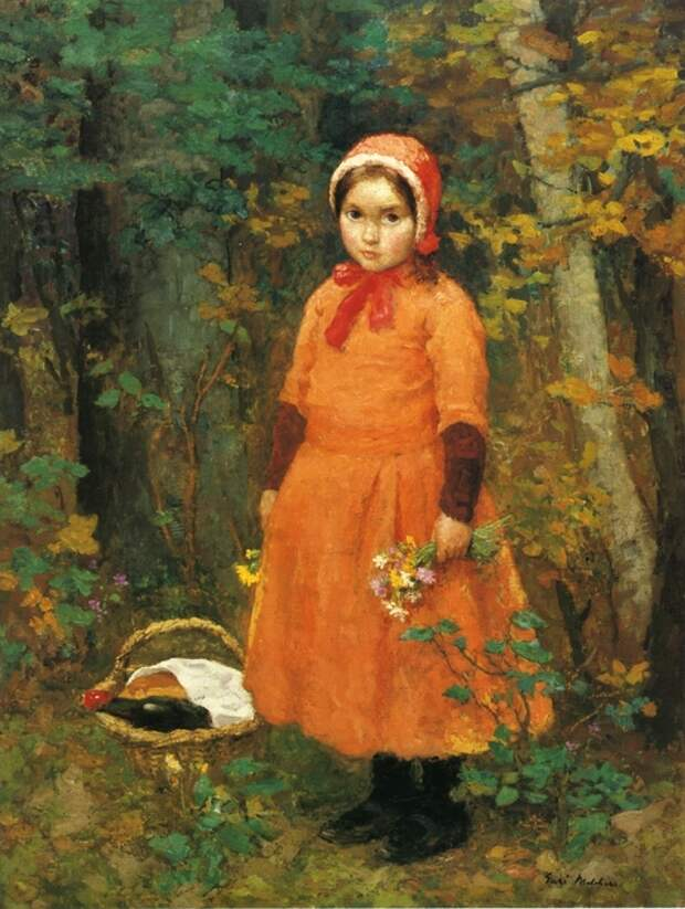 Gari Melchers. Красная Шапочка / Little Red Riding Hood