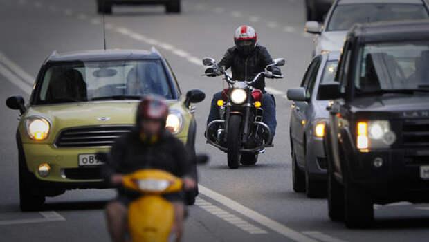 Мотоциклистам предлагают дать фору