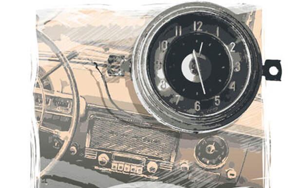 Встроенные часы Волги ГАЗ-21: там была необыкновенная технология