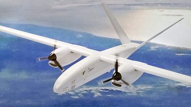 Модель БПЛА «Альтиус-М», представленная на авиасалоне МАКС-2013