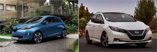 Renault Zoe и Nissan Leaf — ?????? авто, аренда, кашеринг, москва
