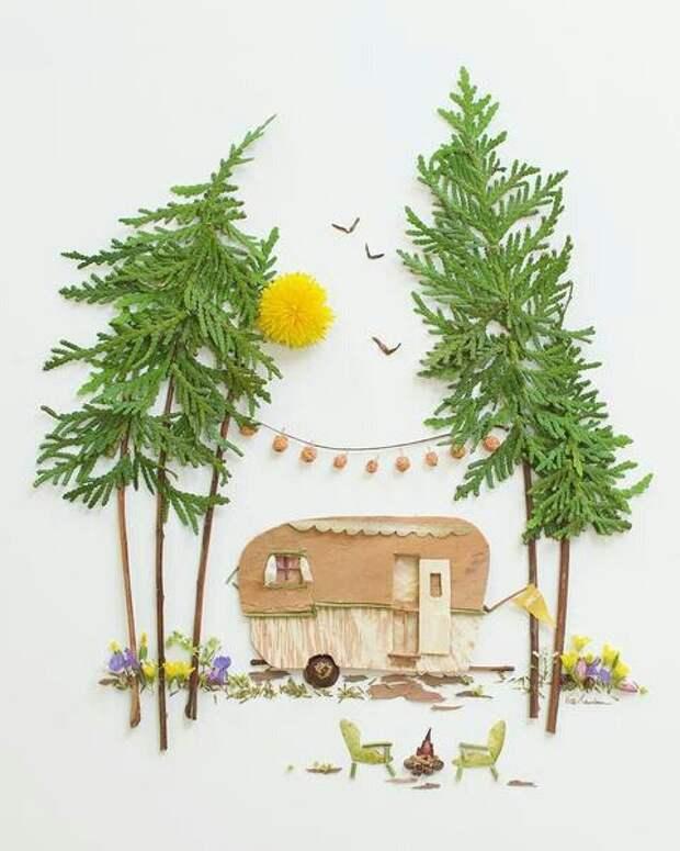 Пейзажные панно из растений (подборка)