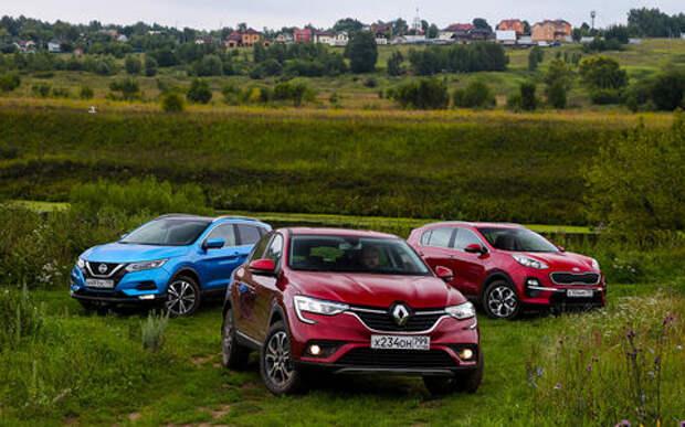 Renault Arkana, Nissan Qashqai, Kia Sportage: тест-драйв в цифрах