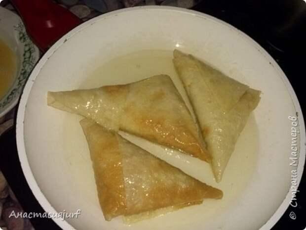 Кулинария Мастер-класс Треугольники из лаваша с ветчиной и сыром фото 8