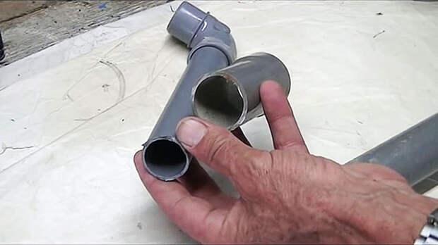 Как соединить трубы ПВХ без соединителя