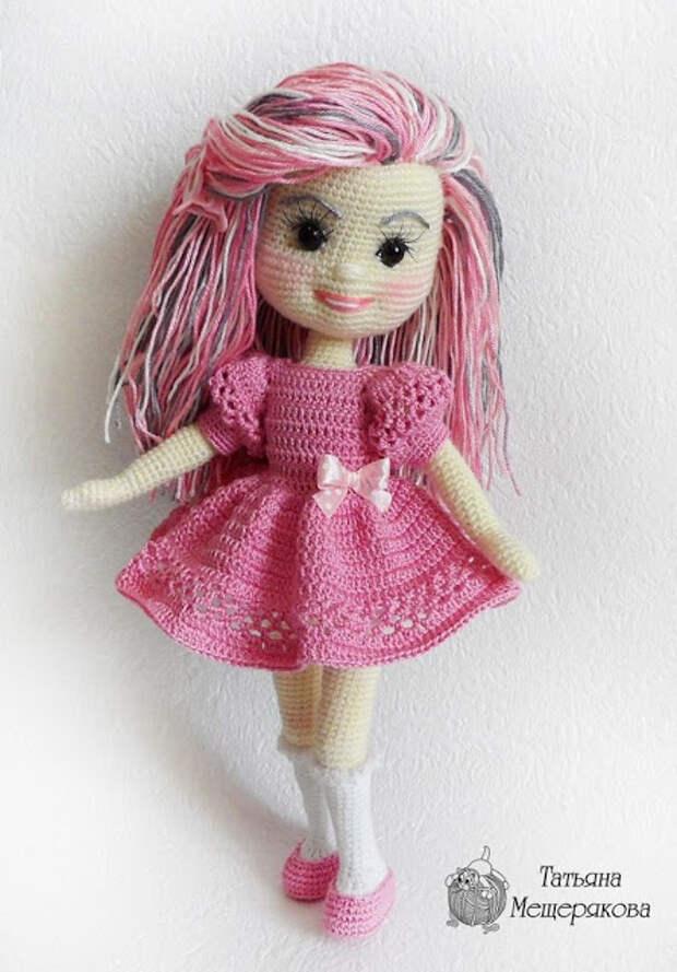 Жакет спицами и куколка - амигуруми крючком