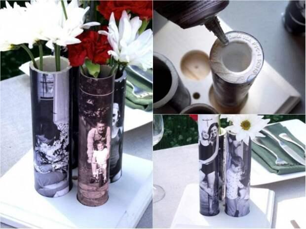 Фото ваза из трубы