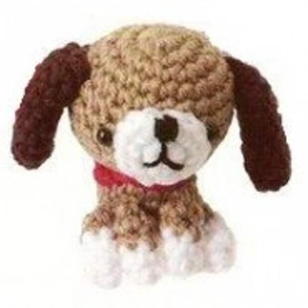 Маленькая собачка (амигуруми)
