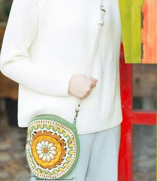 Вязаная японская сумка №2 (diy)