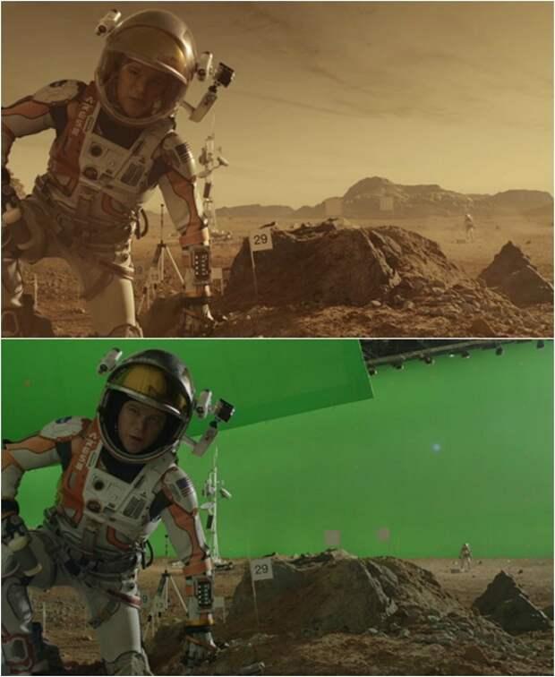 14 крутых кадров из фильмов до и после спецэффектов