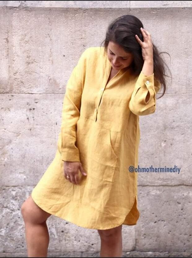Шикарное летнее платье-рубашка (Diy)