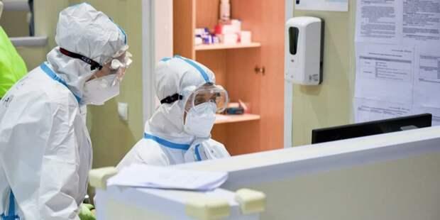 Цифровой алгоритм помогает врачам отслеживать риски ухудшения состояния пациентов в коронавирусных госпиталях Москвы. Фото: М. Денисов mos.ru