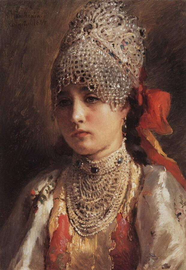 Константин Маковский, Боярышня. 1884