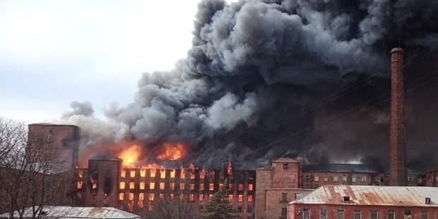 Организована проверка по факту пожара на «Невской мануфактуре»