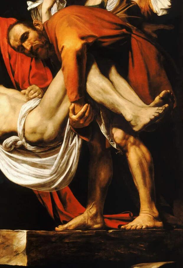 «Положение во гроб» Караваджо, или жутковатый реализм в 17 веке
