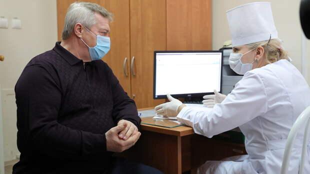 Прививку откоронавируса сделал губернатор Ростовской области