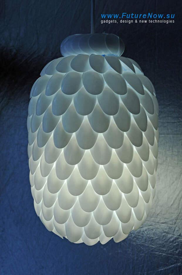 diylamps08 21 идея изготовления светильников и люстр из повседневных предметов