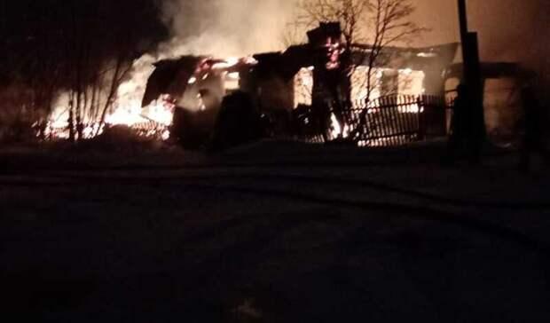 Многодетная семья осталась без крова идокументов после пожара в доме под Алапаевском