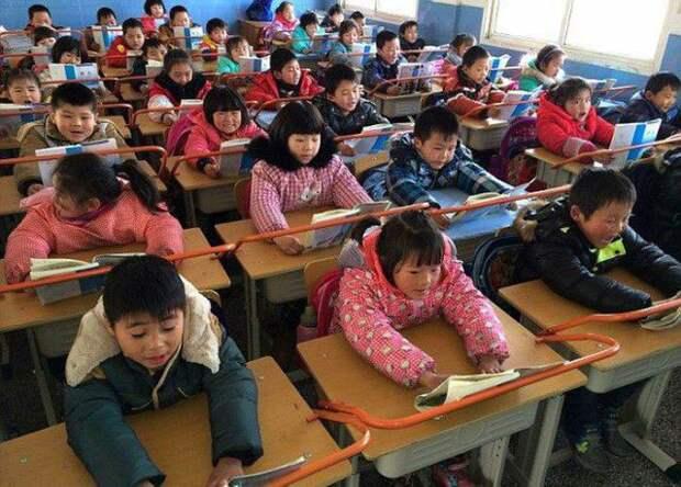 китай, школа, дети, здоровье, зрение, осанка
