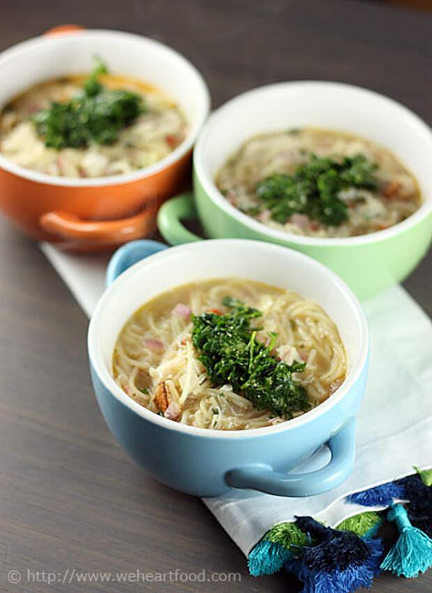 Изысканный  грибной суп с фунчозой