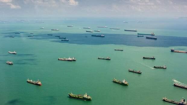 Сингапурский пролив заняла «пробка» изтанкеров