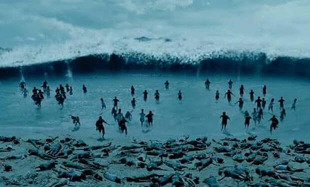 Пугающая и впечатляющая съемка цунами от первого лица