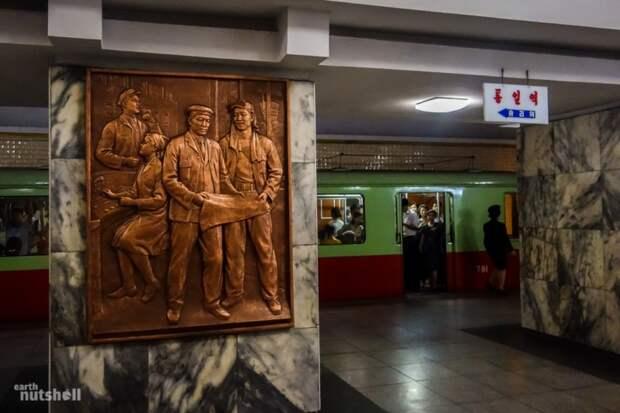 9 уникальных фото самого закрытого в мире метро в Северной Корее