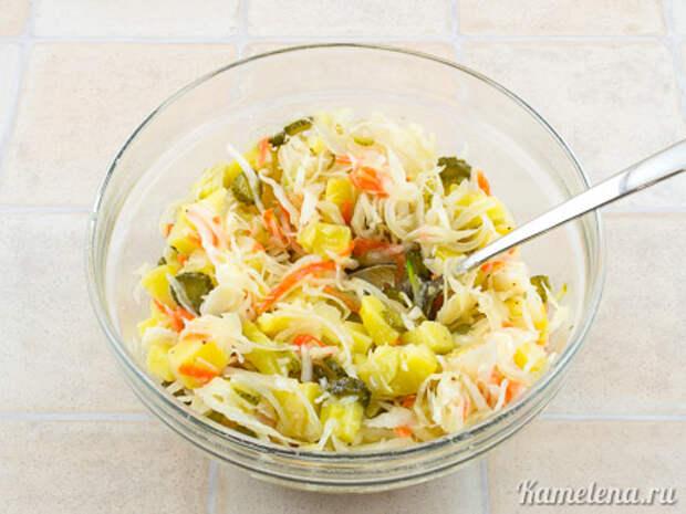 Картофельный салат с квашеной капустой — 2 шаг