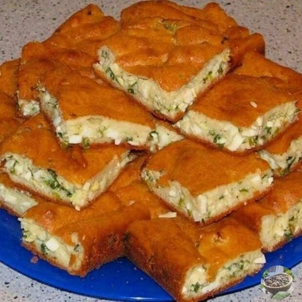 Пирог на майонезе, по-быстрому