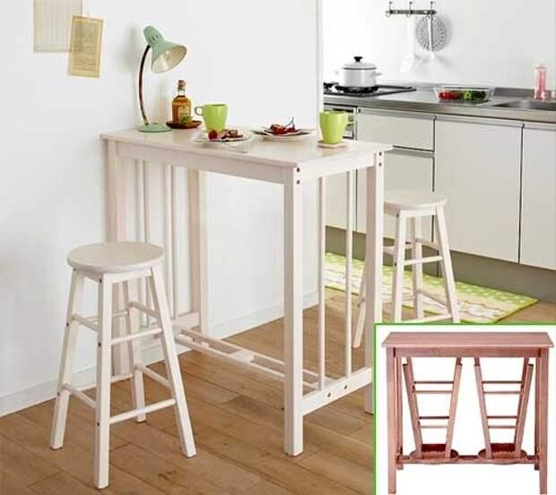 деревянный высокий стол