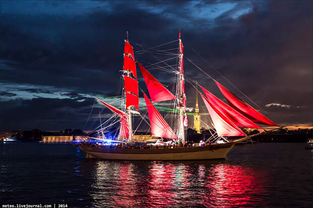 Crimson Sails: magnificent water show in Saint Petersburg
